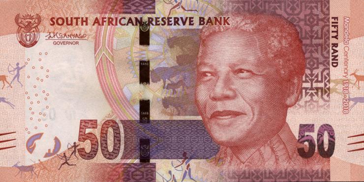 Südafrika / South Africa P.neu 50 Rand 2018 Gedenkbanknote (1)