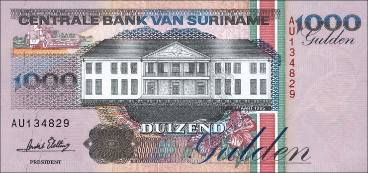 Surinam / Suriname P.141b 1000 Gulden 1995 (1)