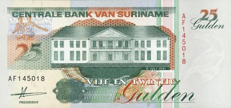 Surinam / Suriname P.138a 25 Gulden 1991 (1)