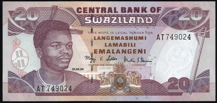 Swasiland / Swaziland P.30c 20 Emalangeni 2006 (1)