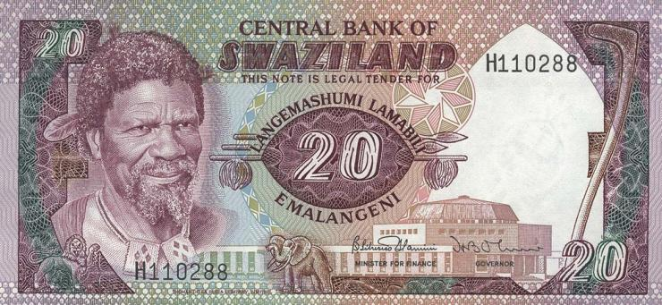 Swasiland / Swaziland P.11b 20 Emalangeni (1985) (1)
