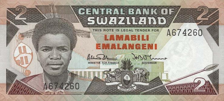 Swasiland / Swaziland P.13 2 Emalangeni (1987) (1)