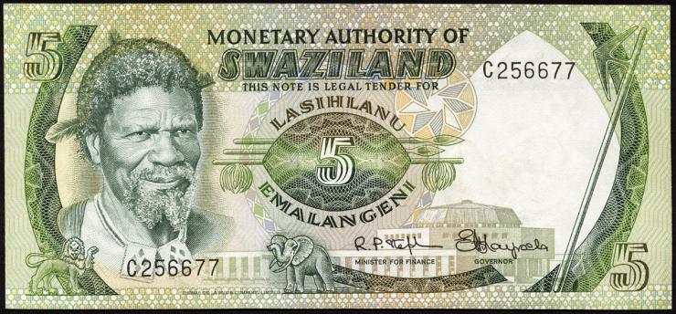 Swasiland / Swaziland P.03 5 Emalangeni (1974) (2)