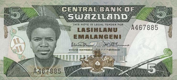 Swasiland / Swaziland P.14 5 Emalangeni (1987) (1)