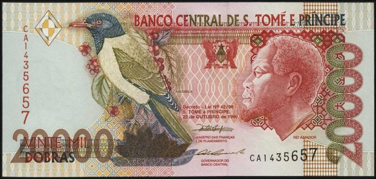 St. Thomas / Saint Thomas and Prince P.67b 20000 Dobras 1996 (1)