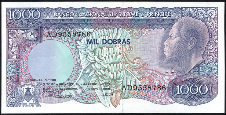 St. Thomas / Saint Thomas and Prince P.62 1000 Dobras 1989 (1)