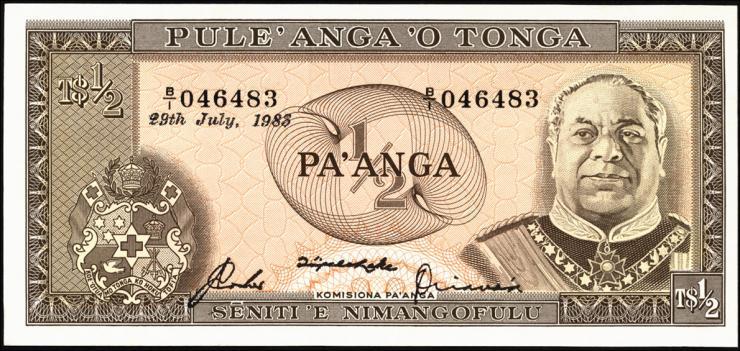 Tonga P.18c 1/2 Pa´anga 1983 (1)