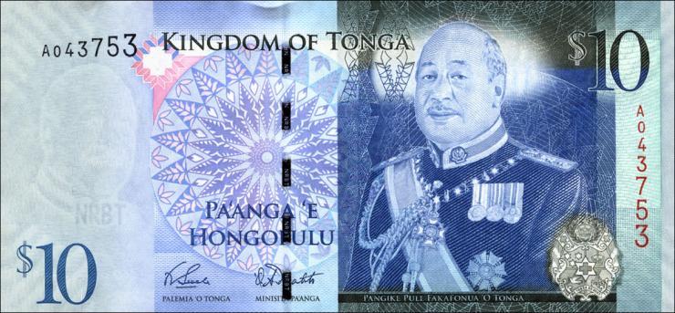 Tonga P.40a 10 Pa'anga (2008) (1)