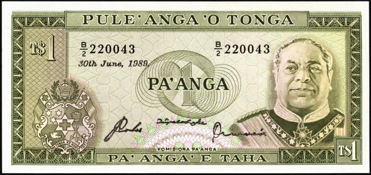 Tonga P.19c 1 Pa´anga 30.6.1989 (1)