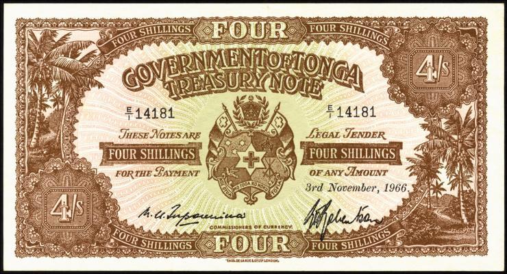 Tonga P.09e 4 Shillings 1966 (1)
