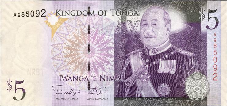 Tonga P.39b 5 Pa'anga (2013) (1)