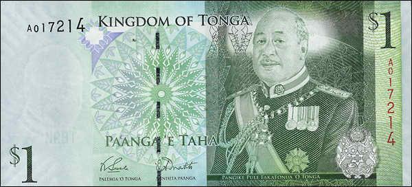 Tonga P.37a 1 Pa'anga (2008) (1)
