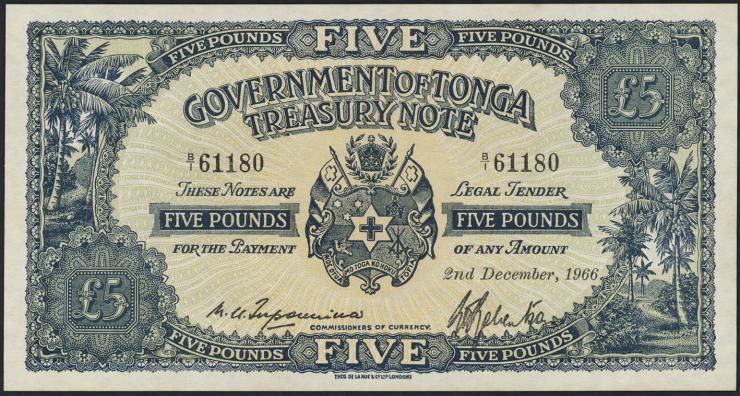Tonga P.12d 5 Pounds 1966 (1)