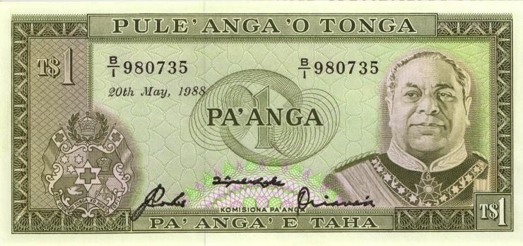 Tonga P.19c 1 Pa´anga 20.5.1988 (1)