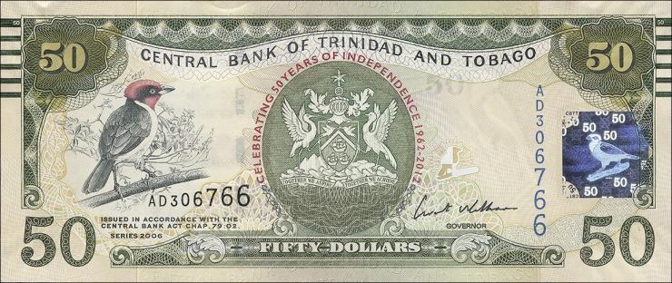 Trinidad & Tobago P.53 50 Dollars 2006 (2012) (1)