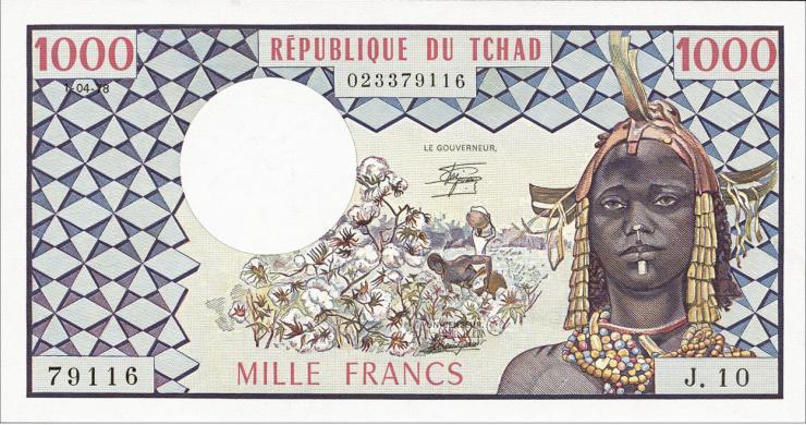 Tschad, Rep. / Chad P.03c 1000 Francs 1978 (1)