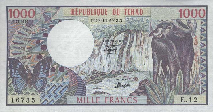 Tschad / Chad P.07 1000 Francs 1980 (1)