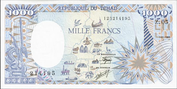 Tschad / Chad P.10Aa 1000 Francs 1989 (1)