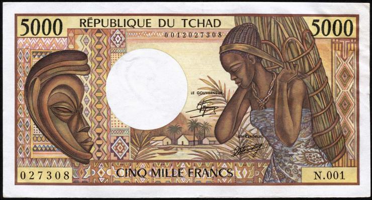 Tschad / Chad P.11 5000 Francs (1984-91) (1/1-)