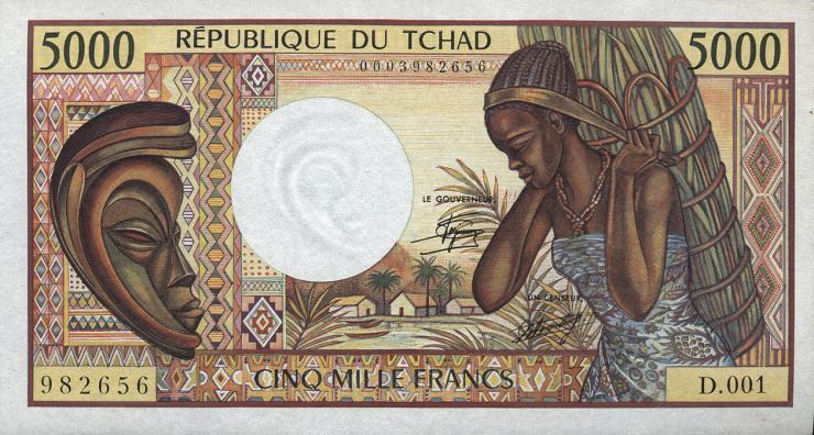 Tschad / Chad P.11 5000 Francs (1984-91) (1)