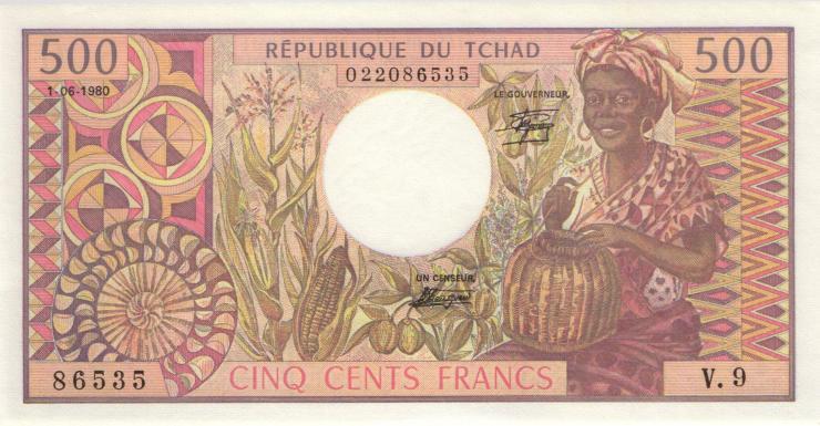 Tschad / Chad P.06 500 Francs 1984 (1)