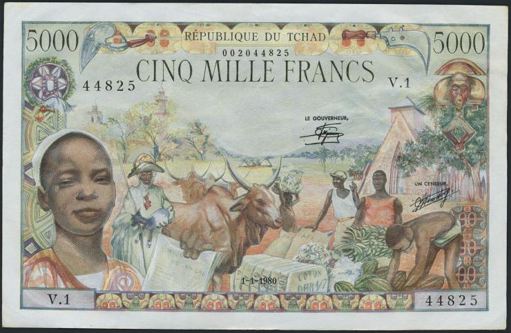 Tschad / Chad P.08 5000 Francs 1980 (1/1-)