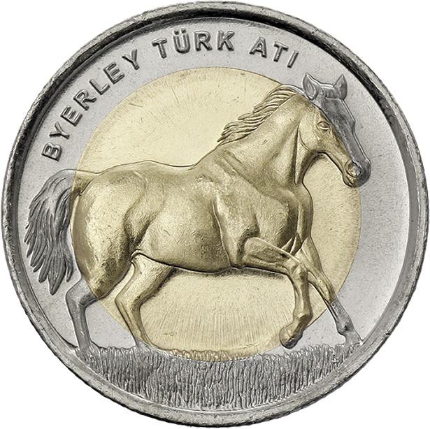 Türkei 1 Lira 2014 Pferd