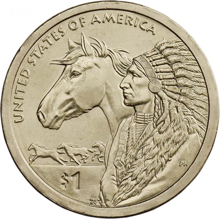 USA 1 Dollar 2012 Indianerin / Indianer