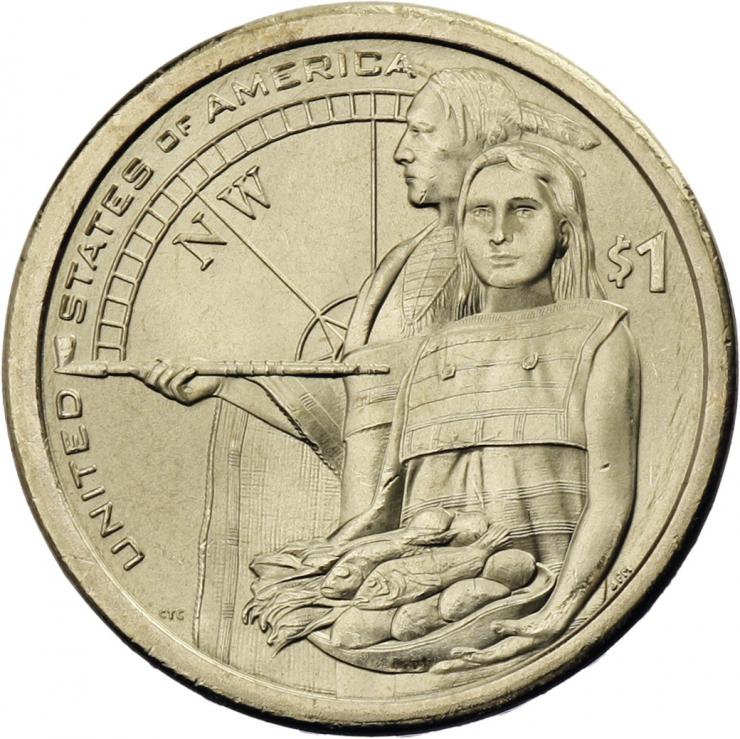 USA 1 Dollar 2014 Indianerin / Indianer