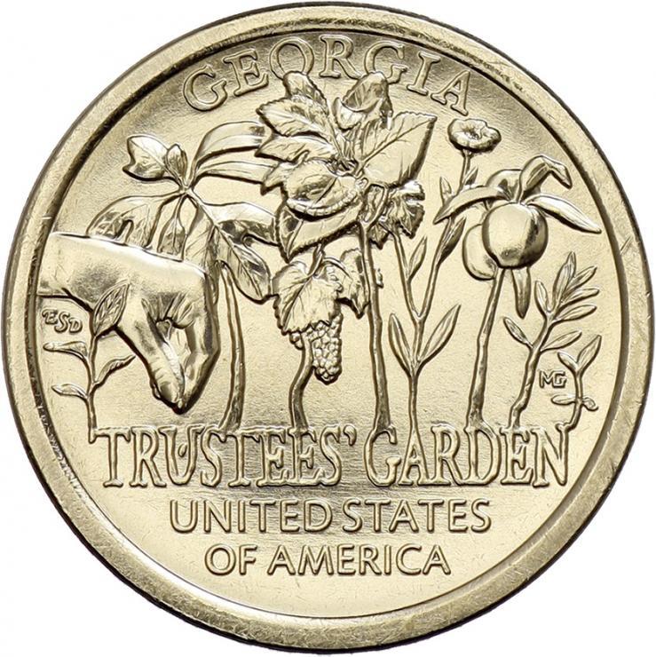 USA 1 Dollar 2019 Trustees' Garden - Georgia