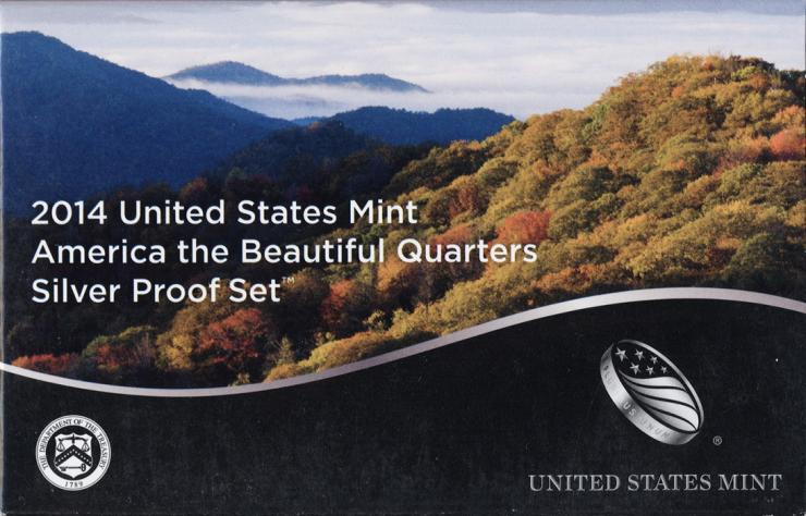 USA Quarter-Set 2014 Silver Proof