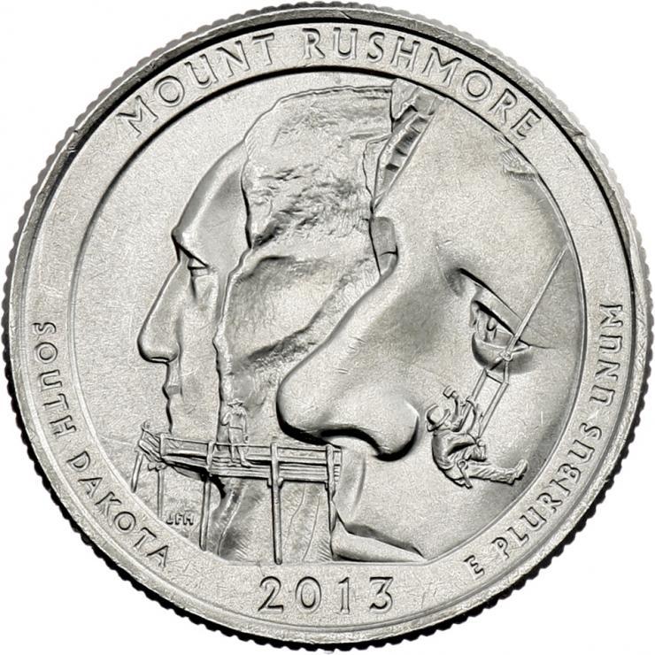 USA 1/4 Dollar 2013 20. Mount Rushmore