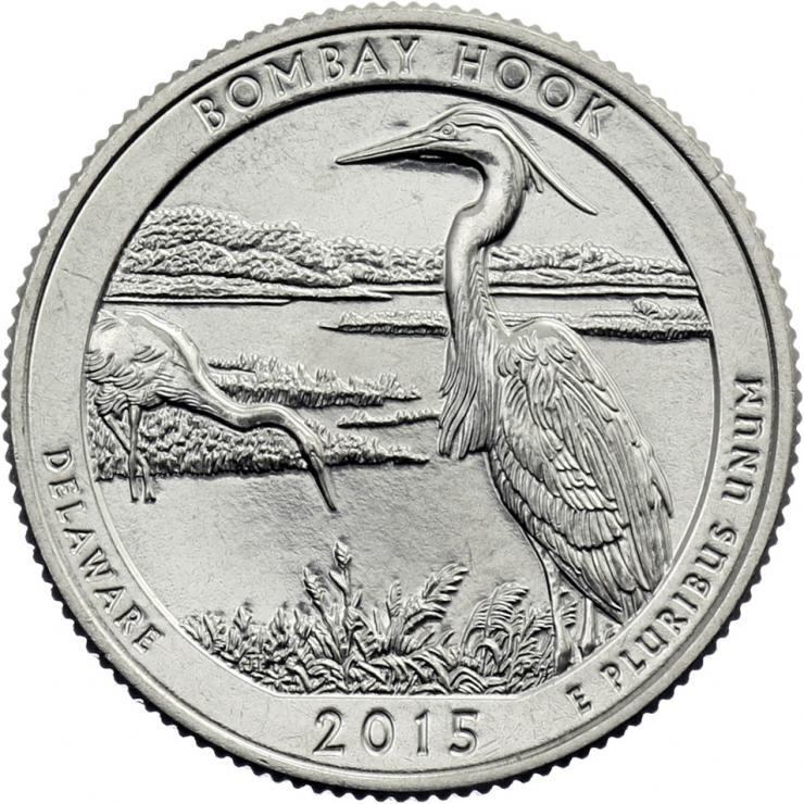 USA 1/4 Dollar 2015 29. Bombay Hook
