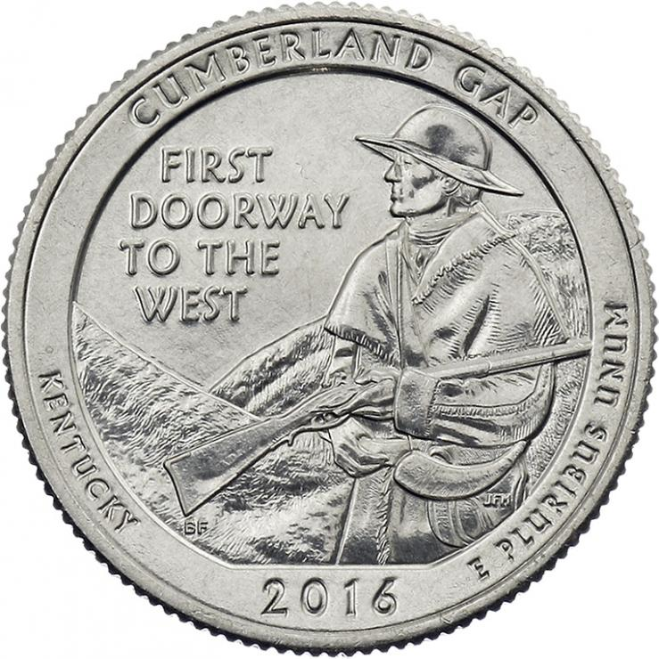 USA 1/4 Dollar 2016 32. Cumberland Gap