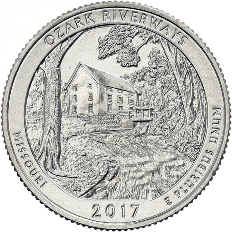 USA 1/4 Dollar 2017 38. Ozark Riverways