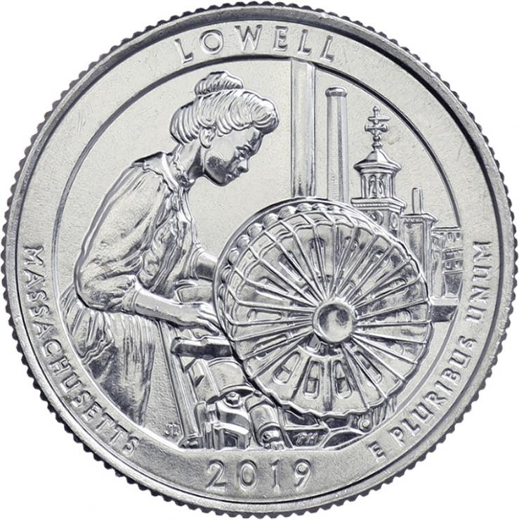 USA 1/4 Dollar 2019 46. Lowell National Historical Park