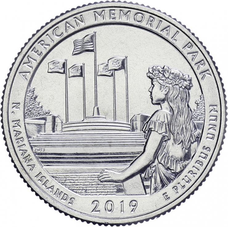 USA 1/4 Dollar 2019 47. American Memorial Park