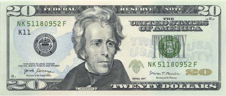 USA / United States P.548 20 Dollars 2017 (1)