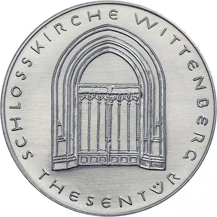 DDR-Medaille Schloßkirche Wittenberg - Thesentür  V-009