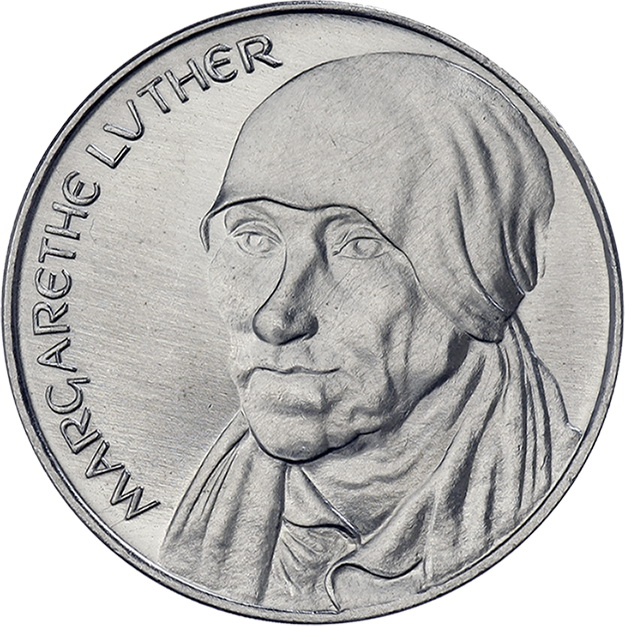DDR-Medaille Margarethe Luther V-015