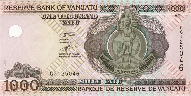 Vanuatu P.10b 1000 Vatu (2005) (1)