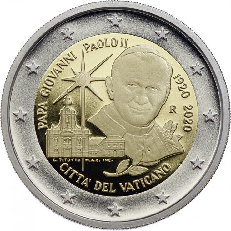 Vatikan 2 Euro 2020 100. Geburtsjahr Hl. Johannes Paul II. PP