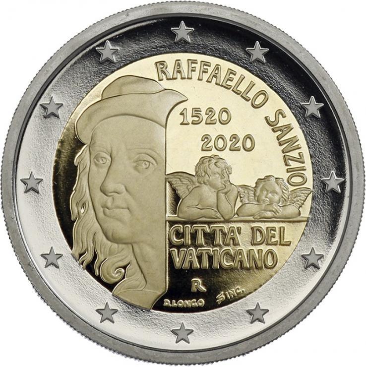 Vatikan 2 Euro 2020 500. Todestag Raffael PP