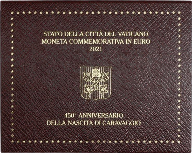 Vatikan 2 Euro 2021 Caravaggio - 450. Geburtstag