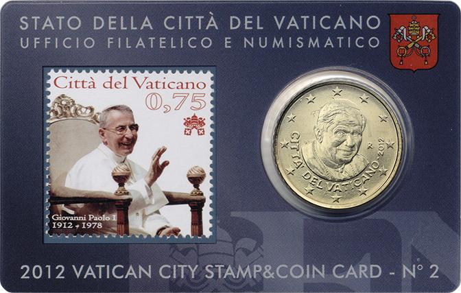 Vatikan 50 Cents 2012 Stamp&Coincard No. 2