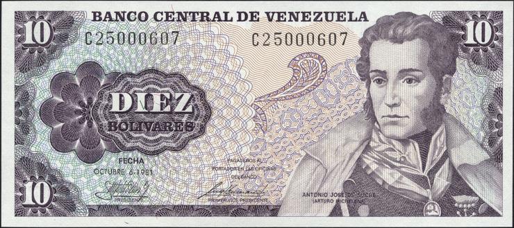 Venezuela P.60 10 Bolivares 1981 (1)