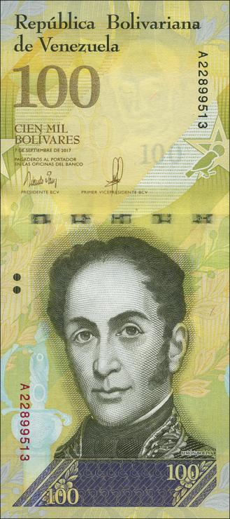 Venezuela P.100 100.000 Bolivares 2017 (1)