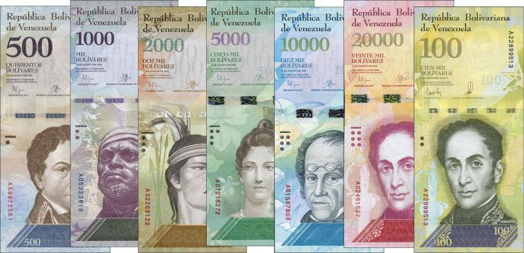 Venezuela P.94-P.100 500-100.000 Bolivares 2016/17 (1)