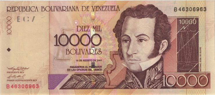 Venezuela P.85b 10000 Bolivares 2001 (1)