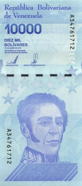 Venezuela P.109b 10000 Bolivares 22.1.2019 (1)